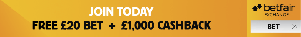 Join today! Free £20 Bet + up to £1,000 cashback