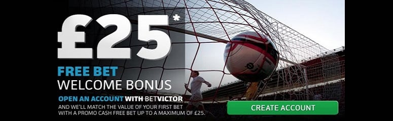 £25 free bet welcome bonus for new customers