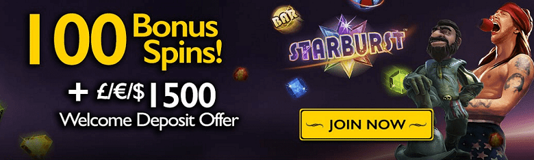 100 Bonus Spins on Slots + up to £1500 Casino Bonus Cash at Grand Ivy