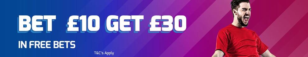 bet £10 get £30 in casino cash as a bonus