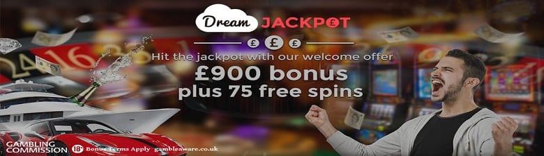 £900 Welcome bonus plus 75 free spins, new customers only