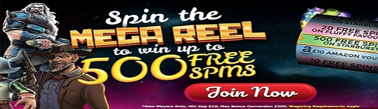 Spin the Mega Reel for prizes | Promotional Slots Casino offer