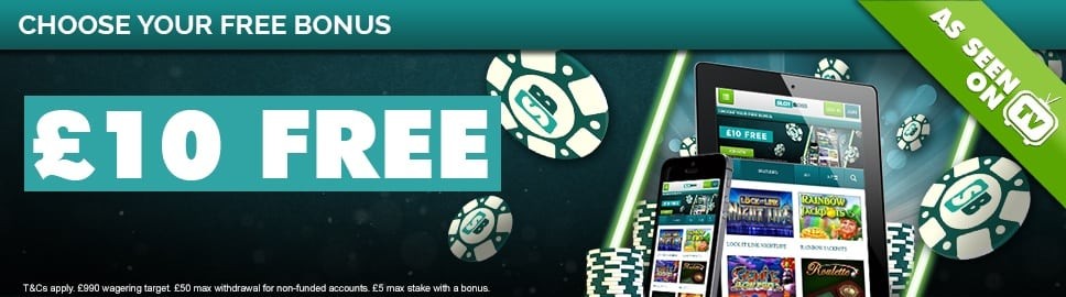 £10 Free Bonus Cash at Slot Boss
