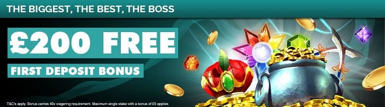 £200 free bonus to use on 5 star slots for first time depositors
