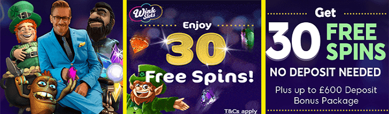30 free spins - no deposit needed! £600 bonus package for those who do deposit
