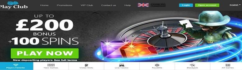 £200 bonus + 100 spins on play clubs live casino
