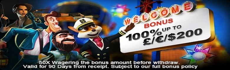 Blue Fox Casino - Match Bonus up to £200 for Casino games online
