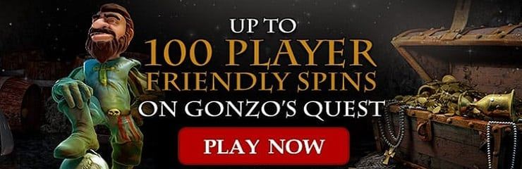 100 free spins on Gonzos Quest