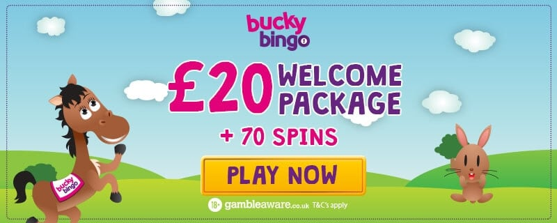 Bucky Bingo UK - Welcome package free spins