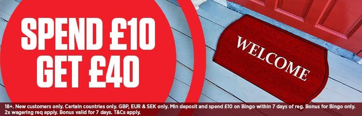 ladbrokes UK Bingo bonus