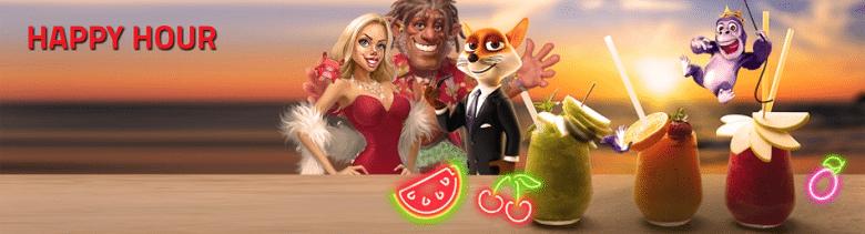 Happy hour on top online slots games