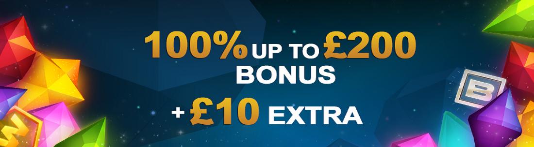 Slots promotional match bonus banner